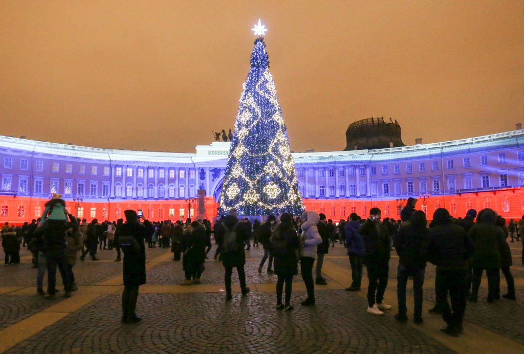 New Year celebrations in St Petersburg, Russia