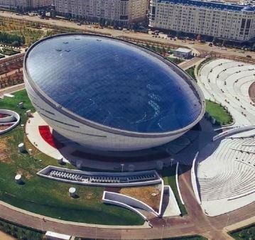 Centro di Nazarbayev-Occhio gigane-biblioteca del primo presidente del Kazakistan-Kazakistan