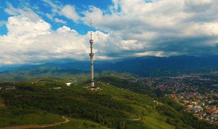 Monte Kok-Tobe-torre TV più elevata del mondo-kazakistan
