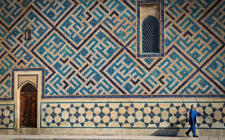 Mura del Mausoleo di Khoja Ahmet Yassaui-Kazakistan