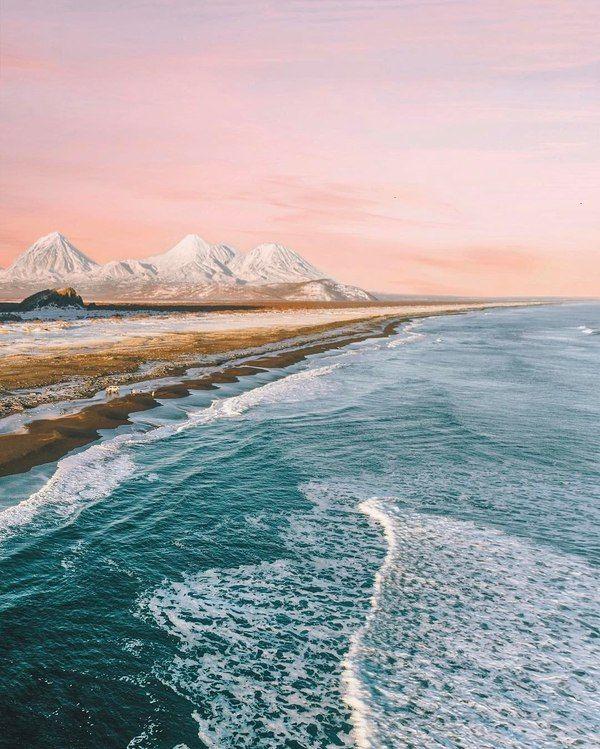 Spiaggia di Khalaktyrskij: famosa per la sua spiaggia nera e le sue onde perfette per il surf sull'Oceano Pacifico