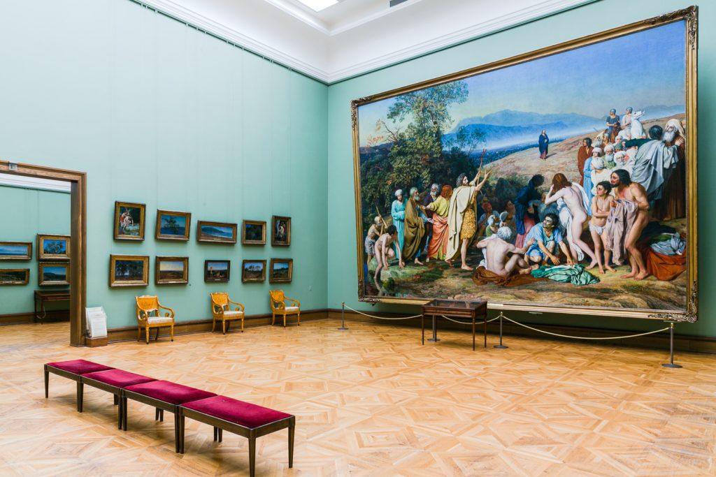 Una sala della Galleria Tretyakov a Mosca