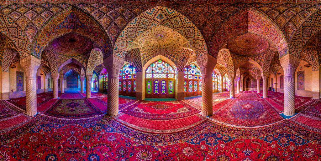 panorama of nasir al mulk mosque shiraz iran
